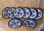 blue Fitzhugh dinner plates