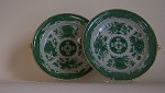 GREEN  FITZHUGH  HOT  WATER  PLATES
